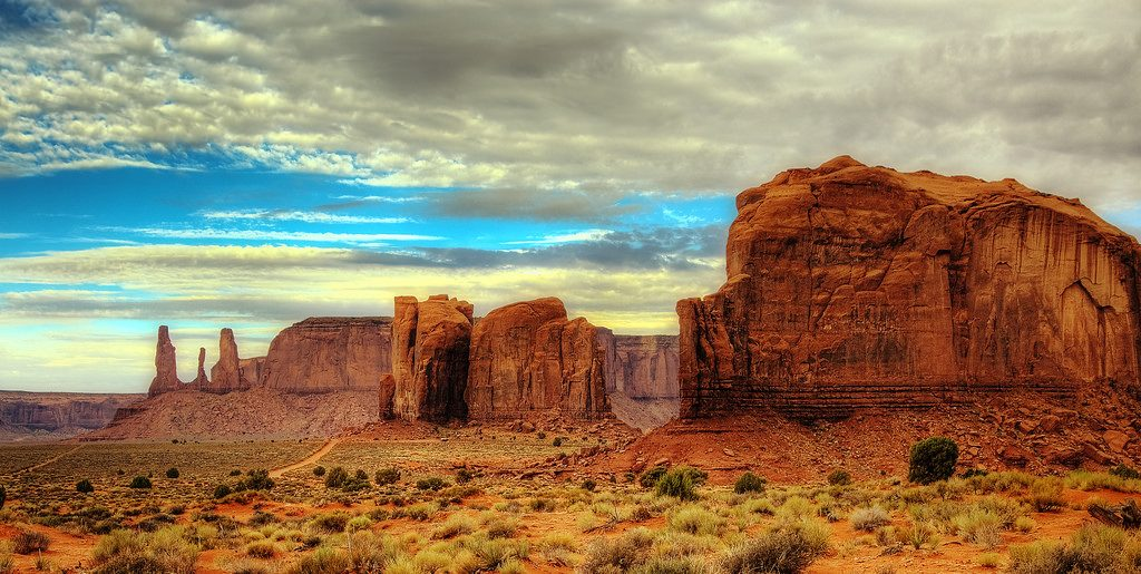 Monument Valley, located on the southern border of Utah. Image Courtesy: Wolfgang Staudt, FLICKR | License